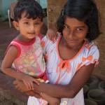 スリランカの子供家族